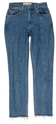 Reformation Mid-Rise Straight-Leg Jeans