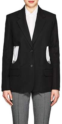 Helmut Lang Women's Cutout Canvas Two-Button Blazer