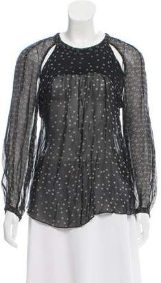 Etoile Isabel Marant Patterned Cutout-Accented Blouse