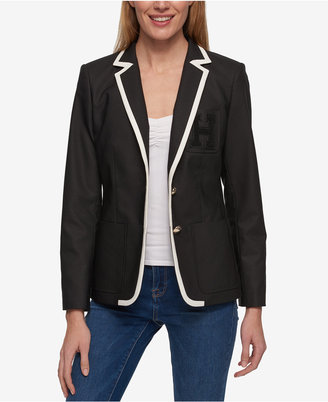 Tommy Hilfiger Spectator Colorblocked Blazer, Only at Macy's $129.50 thestylecure.com