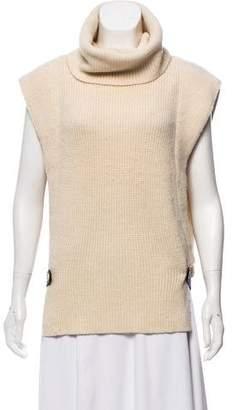 Neil Barrett Turtle-Neck Sleeveless Sweater