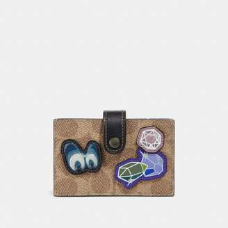 Coach Disney X Accordion Card Case In Signature Patchwork
