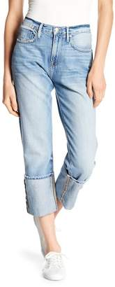 Frame Le Oversized Cuff Boyfriend Jeans