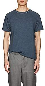Barneys New York MEN'S MÉLANGE TERRY T-SHIRT - NAVY SIZE S