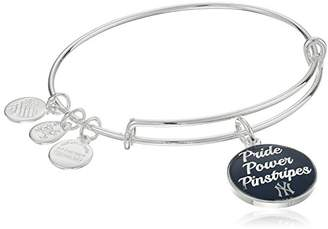 Alex and Ani Pride Power Pinstripes Expandable Rafaelian Silver-Tone Bangle Bracelet