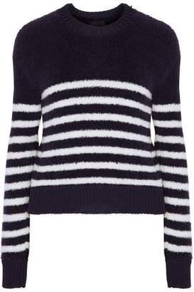 Calvin Klein Collection Walt Striped Wool-Blend Bouclé Sweater