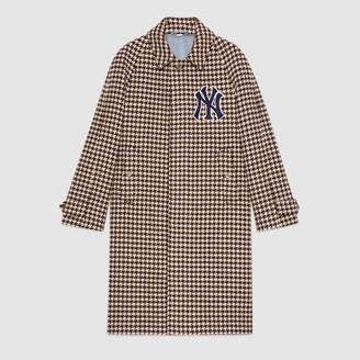 Gucci Houndstooth coat with NY YankeesTM patches