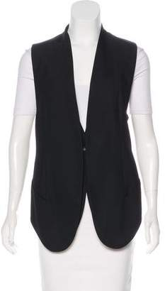 Helmut Lang Collarless Wool Vest