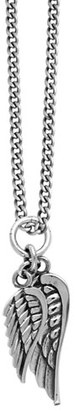 Men's King Baby Sterling Silver Wing Pendant Necklace $480 thestylecure.com