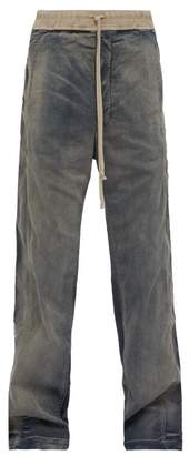 Rick Owens Easy Pusher Loose Fitting Jeans - Mens - Grey