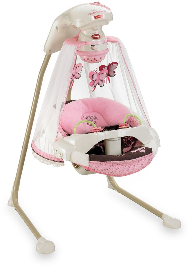 Fisher-Price Butterfly Cradle N' Swing