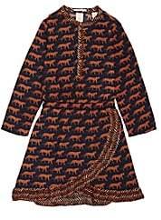 Scotch R'Belle Kids' Leopard-Print Twill Dress - Blue
