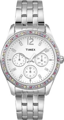 Timex Women's T2P386 Crystal Multi-Function Stainless Steel Bracelet Watch $128.95 thestylecure.com