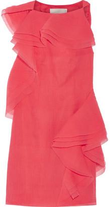 Jason Wu - Ruffled Crinkled Silk-blend Organza Dress - Coral $2,995 thestylecure.com