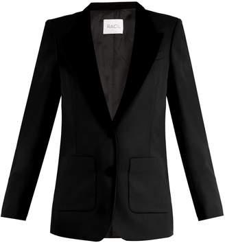 RACIL Yorkshire contrast-lapel wool blazer