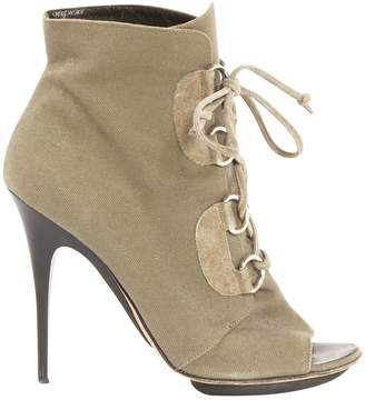 Giuseppe Zanotti Cloth open toe boots