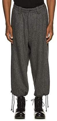 Yohji Yamamoto Men's Tweed Wool-Blend Balloon Trousers