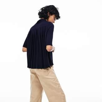 Lacoste Women's Pleated Back Petit Pique Polo