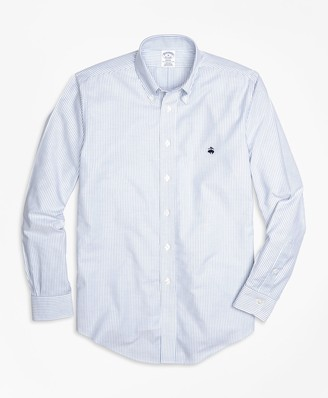 Brooks Brothers Non-Iron Regent Fit Oxford Stripe Sport Shirt