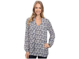 Lucky Brand Tie Front Long Sleeve Top Women's Long Sleeve Pullover