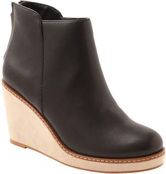 Kensie Leather Wedge Ankle Boots - Higgins