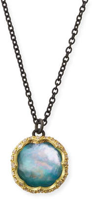 Armenta Old World Peruvian Opal Triplet Necklace with Diamonds