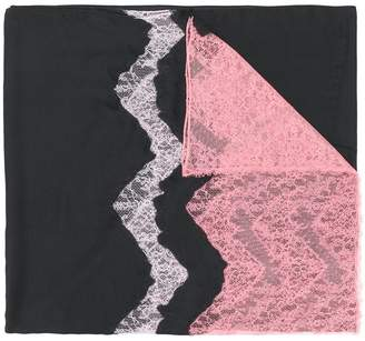 Valentino lace detail scarf