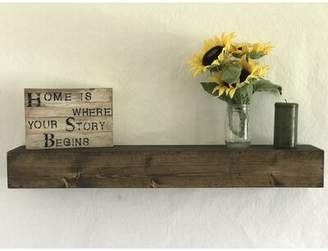 Essex Hand Crafted Wood Products Reclaimed Wood Floating Shelf Essex Hand Crafted Wood Products