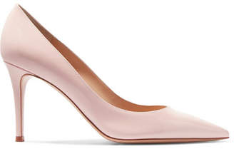 Gianvito Rossi 85 Patent-leather Pumps - Baby pink