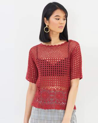 Oasis Crochet Knitted Top