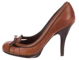 Kurt Geiger Leather Round-Toe Pumps
