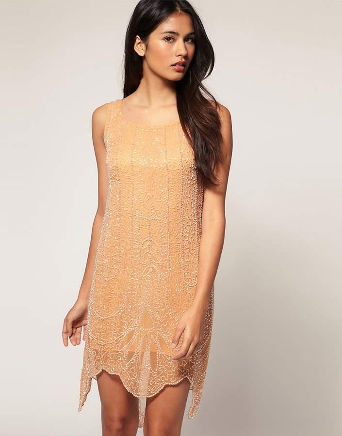 Design Shift Dress with Bead Embellishment