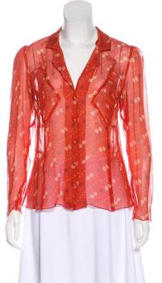 Anna Sui Printed Long Sleeve Top