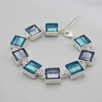 Murano Claudette Worters Silver Bracelet With Glass Squares