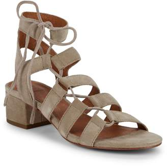 Frye Chrissy Side Ghillie Suede Sandals