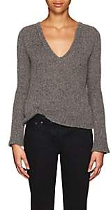 The Row Women's Aetra Brushed Cashmere-Blend Sweater - Grey Melange