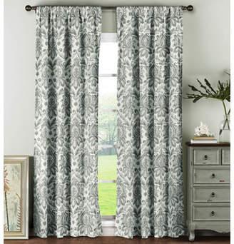 Window Elements Damask Semi-Opaque Sheer Curtain Panels