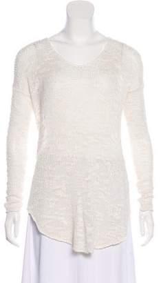 Helmut Lang Silk Asymmetrical Sweater