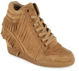Ash Beatnik Russet Fringed Wedge Sneakers