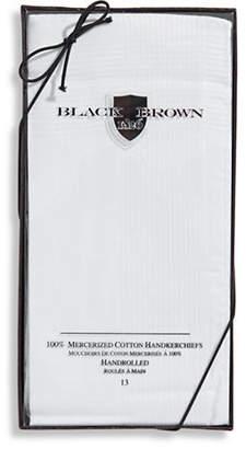 Black Brown 1826 13 Pack Handrolled Mercerized Cotton Handkerchiefs
