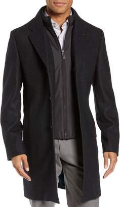 Ted Baker Herringbone Wool Blend Overcoat