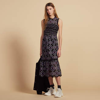 Sandro Midi Guipure Dress