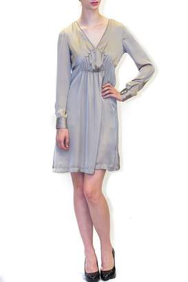 Cerruti Taupe Satin Dress