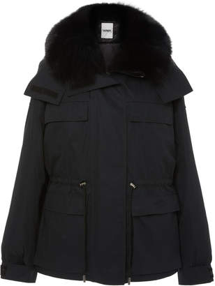 Yves Salomon Army Fur-Trimmed Shell Parka