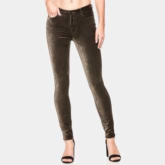 Paige Hoxton Velvet Skinny Jean in Deep Juniper
