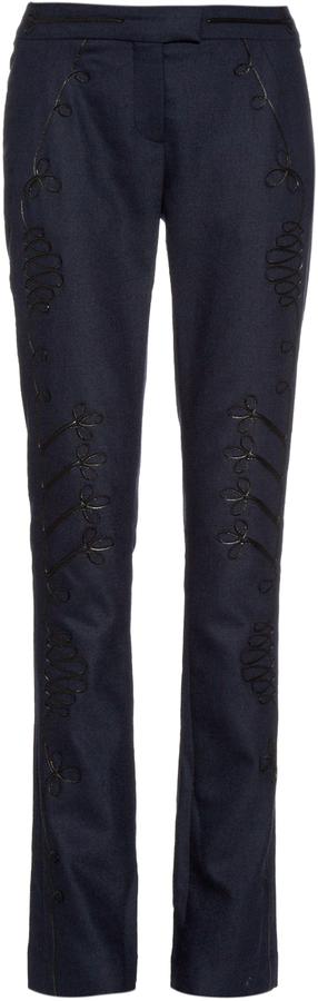 AltuzarraALTUZARRA Terrier motif-appliqué twill trousers