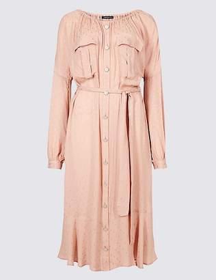 Marks and Spencer Jacquard Print Swing Midi Dress