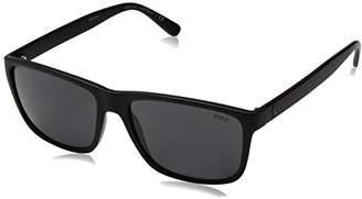 Polo Ralph Lauren Men''s 0Ph4113 528487 Sunglasses, (Black/Grey)