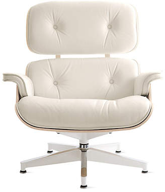 Design Within Reach Herman Miller Eames Lounge Chair, White Leather at DWR