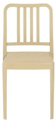 Euro Style Halliday Stacking Chair, Taupe Polypropylene